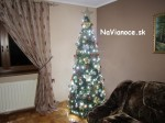 štýlové vianočné umelé stromčeky