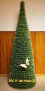 kruhové vianočné stromčeky