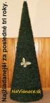 kruhový umelý vianočný stromček na vianoce