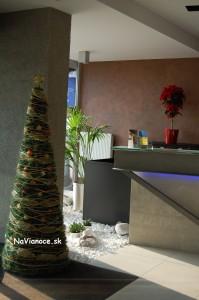 kruhový vianočný stromček