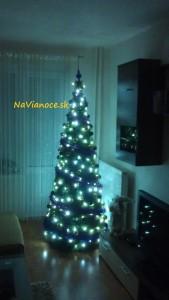 osvetlený vianočný stromček