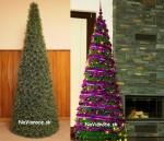 ozdobé vianočné umelé stromčeky