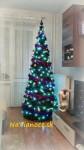 ozdobený moderný vianočný stromček umelý