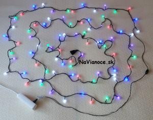 farebná vianočná reťaz na stromček