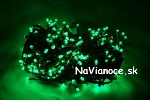 zelené vianočné osvetlenie LED