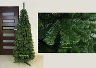 úzke umelé vianočné stromčeky na Vianoce