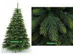 vianočné stromčeky jedle prírodné 3d umelé