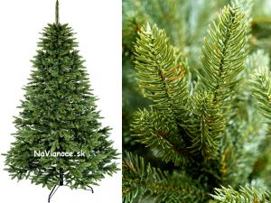 vianočné stromčeky z mäkkého trojrozmerného ihličia
