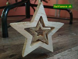 drevené vianočné ozdoby