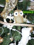 vianočný stromček so sovou