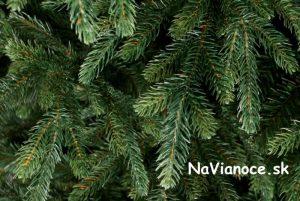 nepravidelná koruna vianočného stromčeka
