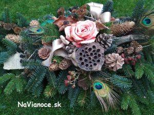živá ikebana na hrob