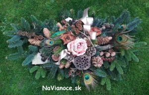 dušičky, ikebany, dekorácie, vence na hroby