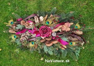 ikebany zo živej čečiny, dekorácie zo živej čečiny a aranžmány zo živej čečiny, v Trnave