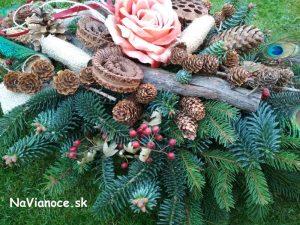 ikebany zo živej čečiny, dekorácie zo živej čečiny a aranžmány zo živej čečiny