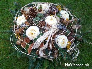 živé prírodné ikebany a aranžmány na hroby na dušičky a pamiatku zosnulých