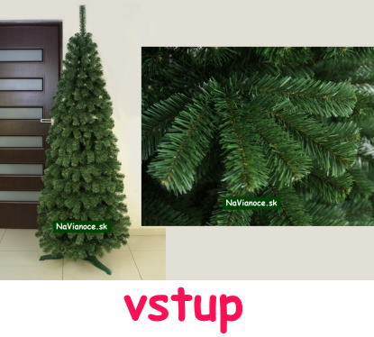 úzky vianočný stromček do úzkych priestorov